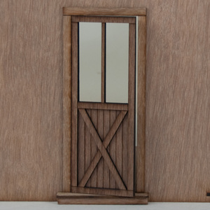 Miniature Dollhouse Crossbuck Door