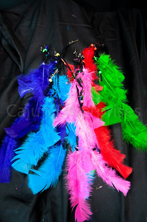 """14"""" ASSORTED COLOR FEATHER CLIPS"""