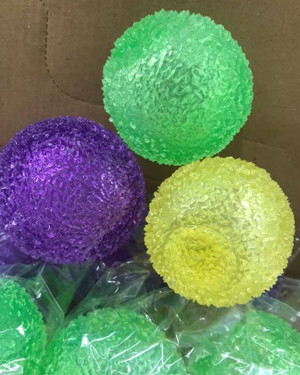 """LIGHT UP BALL IN PURPLE, GREEN & GOLD 2.5"""""""