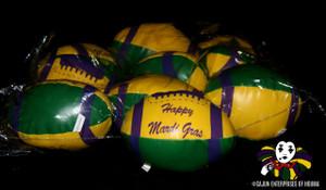 "VINYL FOOTBALL w/HAPPY MARDI GRAS 6"""