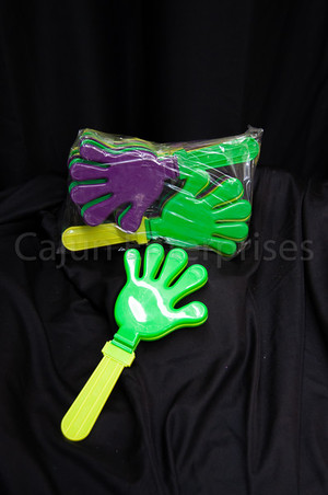 HANDCLAPPER PURPLE, GREEN & GOLD 13""