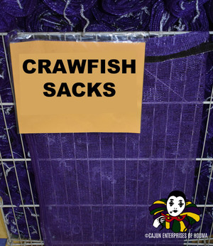 10 PURPLE CRAWFISH SACKS