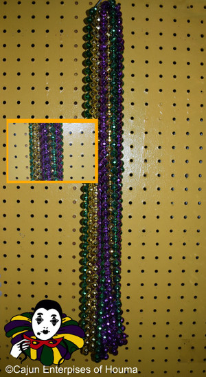 "CASE 48"" 12MM FACET PURPLE, GREEN AND GOLD 15 DZ"