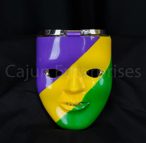 LIGHT UP MARDI GRAS DOUBLE MASK