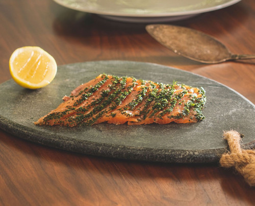 Non-Alcoholic Absinthe Cured Salmon Recipe