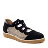 Beautifeel Sage Black Suede angle view - Hanig's Footwear