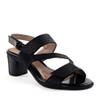 Beautifeel Dove Black Leo Print angle view - Hanig's Footwear