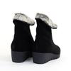 La Canadienne Tessa Black heel view - Hanig's Footwear