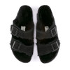Birkenstock Arizona Shearling Black top view - Hanig's Footwear