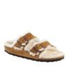 Birkenstock Arizona Shearling Mink angle view - Hanig's Footwear