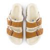 Birkenstock Arizona Shearling Mink top view - Hanig's Footwear