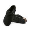 Birkenstock Boston Shearling Black sole view - Hanig's Footwear