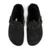 Birkenstock Boston Shearling Black top view - Hanig's Footwear