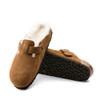 Birkenstock Boston Shearling Mink sole view - Hanig's Footwear