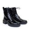 Regarde le Ciel Payton-09 Black Patent angle view - Hanig's Footwear