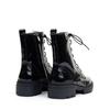 Regarde le Ciel Payton-09 Black Patent heel view - Hanig's Footwear