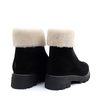 La Canadienne Abba Black heel view - Hanig's Footwear