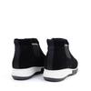 La Canadienne Nadette Black heel view - Hanig's Footwear