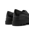 La Canadienne Bowen Black Leather heel view - Hanig's Footwear