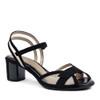 Beautifeel Sunny Black Suede angle view  — Hanig's Footwear