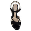 Beautifeel Sunny Black Suede top view  — Hanig's Footwear