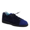 Thierry Rabotin Tulip 2292Q Blue Suede Combo angle view — Hanig's Footwear