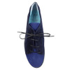Thierry Rabotin Tulip 2292Q Blue Suede Combo top view — Hanig's Footwear