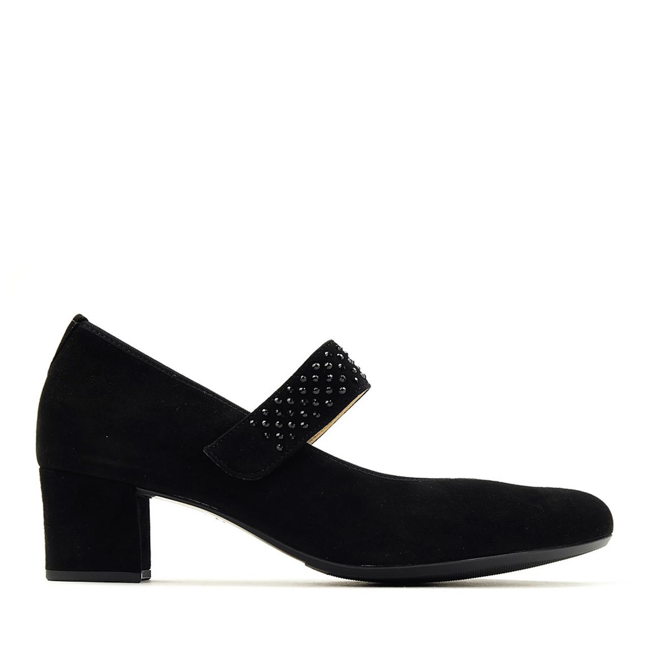 Hassia 304952 Black Suede Heel