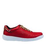 Flex and Go SB0704 red side view - Hanig's Footwear