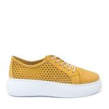Mago 90114 Sneaker in Yellow side view - Hanig's Footwear