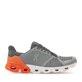 ON Running Cloudflyer grey orange side view - Hanig's Footwear