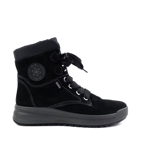 Ara Aubrey boot in black suede side view - Hanig's Footwear