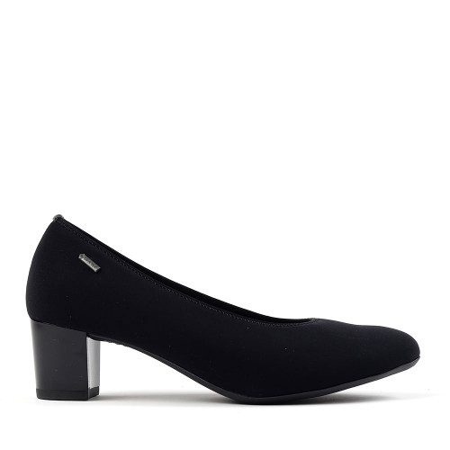 Ara Kadin black fabric side view - Hanig's Footwear