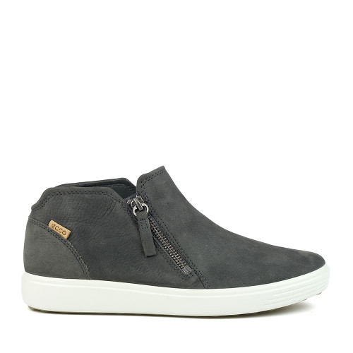 Ecco Soft 7 Low Bootie Dark Shadow side view - Hanig's Footwear