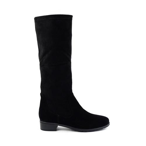 Valdini Blink black suede side view - Hanig's Footwear