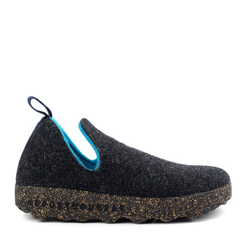 Asportuguesas by Fly London city anthracite side view - Hanig's Footwear
