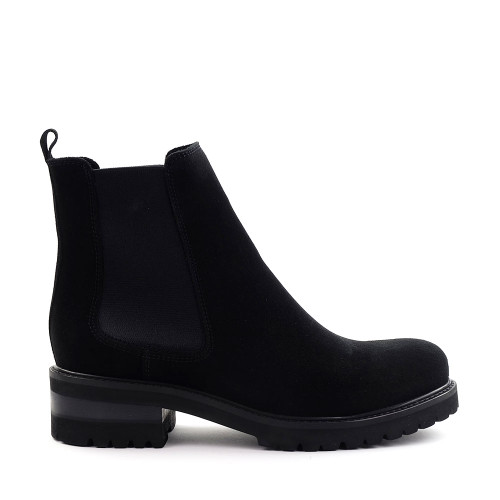 La Canadienne Connor Boot in black side view - Hanig's Footwear