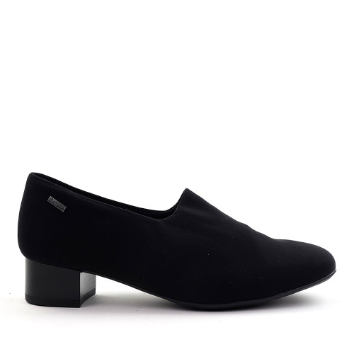 Ara Gala black fabric side view - Hanig's Footwear