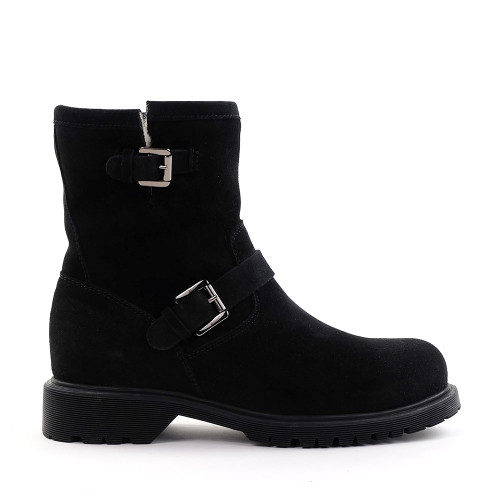 La Canadienne Hermione Boot in black side view - Hanig's Footwear