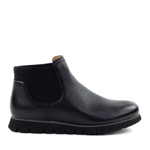 Samuel Hubbard Sam Sport Chelsea Black side view - Hanig's Footwear