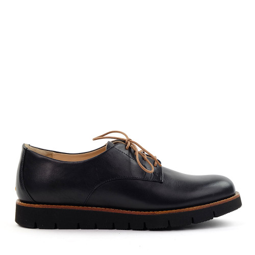 Samuel Hubbard Samsport Oxford Black Nappa side view - Hanig's Footwear
