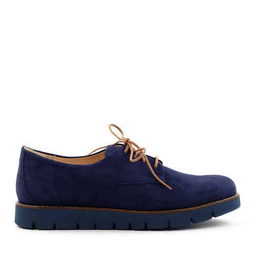 Samuel Hubbard Samsport Oxford Indigo Suede side view -Hanig's Footwear