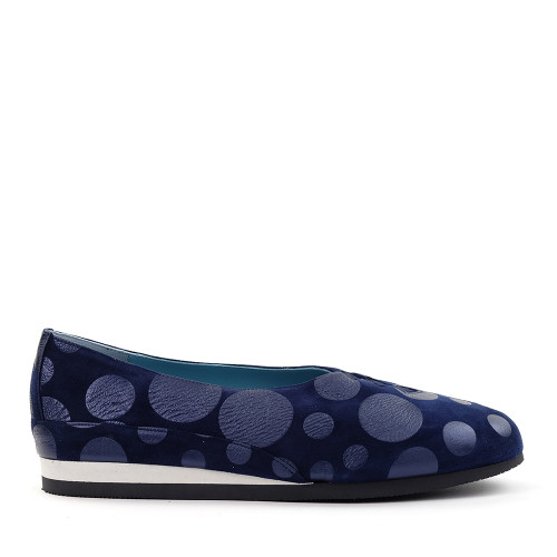 Thierry Rabotin Grace 7410 Navy poi side view - Hanig's Footwear