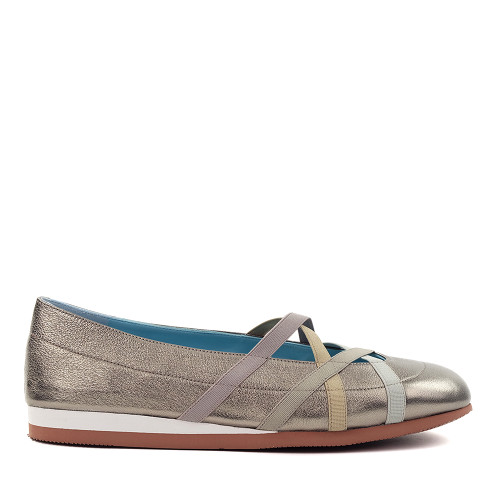 Thierry Rabotin Georgette 2230 Silver wash side view - Hanig's Footwear