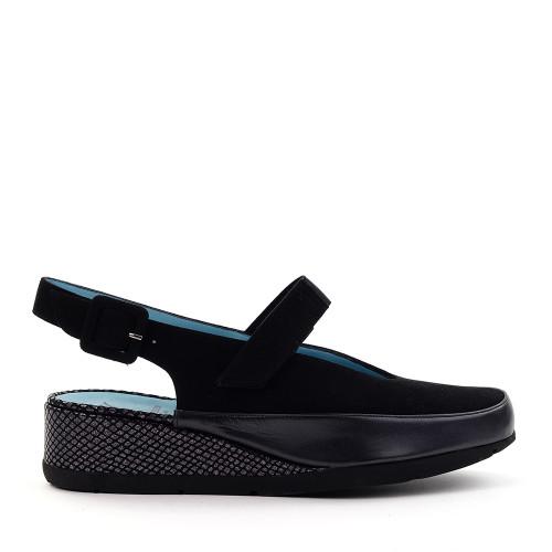 Thierry Rabotin Durina 3501LDR Black side view - Hanig's Footwear