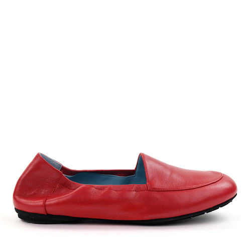 Thierry Rabotin Naomi 8806cm Red Taffetas side view - Hanig's Footwear