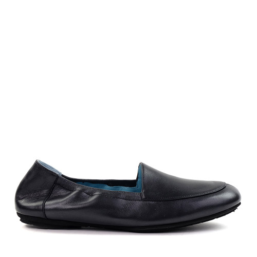 Thierry Rabotin Naomi 8806cm Black Taffetas side view - Hanig's Footwear