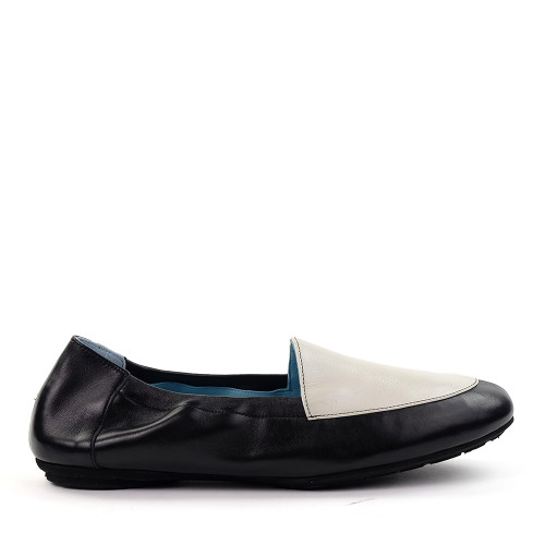 Thierry Rabotin Naomi 8806cm White/Black side view - Hanig's Footwear