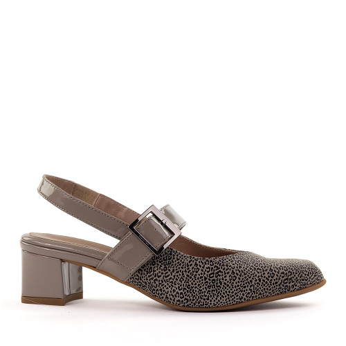 Beautifeel Maisy Taupe Leo side view - Hanig's Footwear