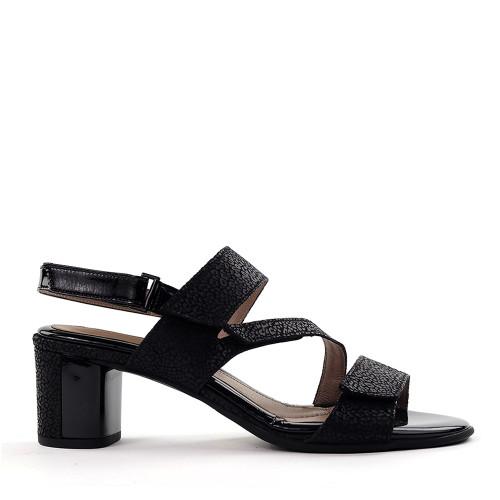 Beautifeel Dove Black Leo Print side view - Hanig's Footwear
